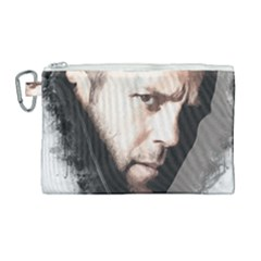 A Tribute To Jason Statham Canvas Cosmetic Bag (large) by Naumovski