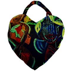 Girls Curiosity 11 Giant Heart Shaped Tote by bestdesignintheworld