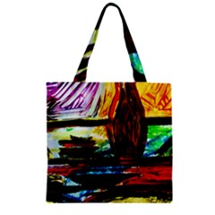 House Will Be Built 2 Zipper Grocery Tote Bag by bestdesignintheworld