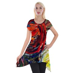 Sunset In A Mountains Short Sleeve Side Drop Tunic by bestdesignintheworld