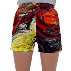 Sunset In A Mountains Sleepwear Shorts