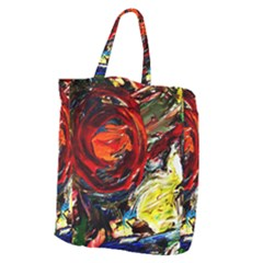 Sunset In A Mountains Giant Grocery Zipper Tote by bestdesignintheworld