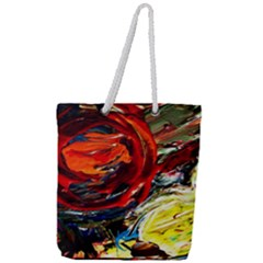 Sunset In A Mountains Full Print Rope Handle Tote (large)