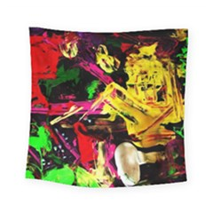 Spooky Attick 1 Square Tapestry (small) by bestdesignintheworld