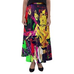 Spooky Attick 1 Flared Maxi Skirt by bestdesignintheworld