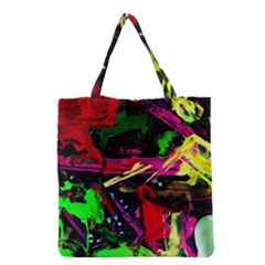 Spooky Attick 2 Grocery Tote Bag by bestdesignintheworld