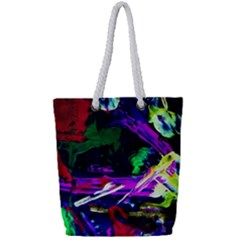 Spooky Attick 5 Full Print Rope Handle Tote (small) by bestdesignintheworld