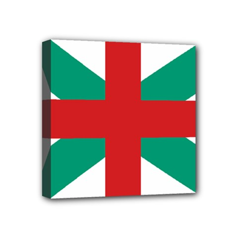 Naval Jack Of Bulgaria Mini Canvas 4  X 4  by abbeyz71