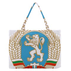 Coat Of Arms Of People s Republic Of Bulgaria, 1971 1990 Zipper Medium Tote Bag by abbeyz71