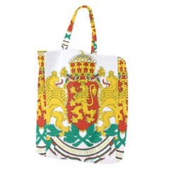 Coat Of Arms Of Bulgaria Giant Grocery Zipper Tote by abbeyz71