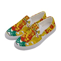 Coat Of Arms Of Bulgaria Women s Canvas Slip Ons by abbeyz71