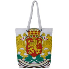 Coat Of Arms Of Bulgaria Full Print Rope Handle Tote (small) by abbeyz71