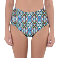 Artwork By Patrick Colorful 34 Reversible High Waist Bikini Bottoms