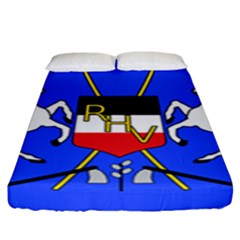 Coat Of Arms Of Upper Volta Fitted Sheet (king Size) by abbeyz71