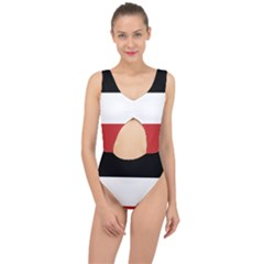 Flag Of Upper Volta Center Cut Out Swimsuit
