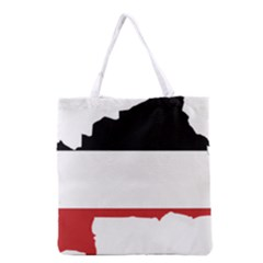 Flag Map Of Upper Volta Grocery Tote Bag by abbeyz71
