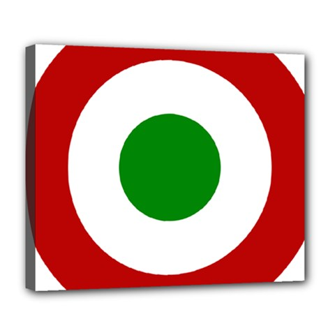 Roundel Of Burundi Air Force  Deluxe Canvas 24  X 20   by abbeyz71