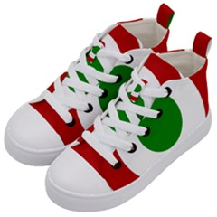 Roundel Of Burundi Air Force  Kid s Mid Top Canvas Sneakers by abbeyz71