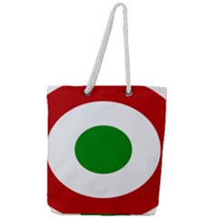 Roundel Of Burundi Air Force  Full Print Rope Handle Tote (large) by abbeyz71