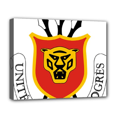 Coat Of Arms Of Burundi Deluxe Canvas 20  X 16   by abbeyz71