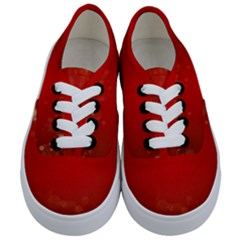 Background Abstract Christmas Kids  Classic Low Top Sneakers