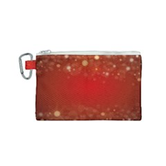 Background Abstract Christmas Canvas Cosmetic Bag (small) by Simbadda