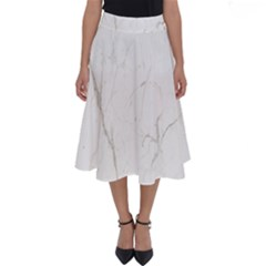 White Marble Tiles Rock Stone Statues Perfect Length Midi Skirt