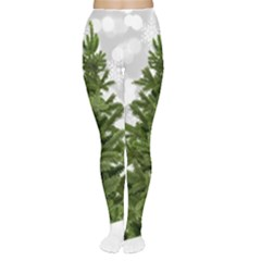 Christmas Xmas Tree Bokeh Women s Tights by Simbadda