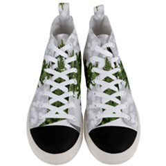 Christmas Xmas Tree Bokeh Men s Mid Top Canvas Sneakers
