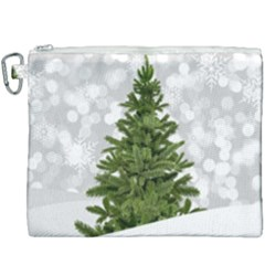 Christmas Xmas Tree Bokeh Canvas Cosmetic Bag (xxxl) by Simbadda