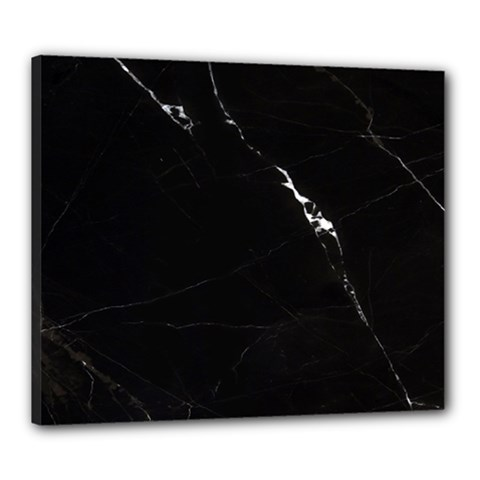 Black Marble Tiles Rock Stone Statues Canvas 24  X 20