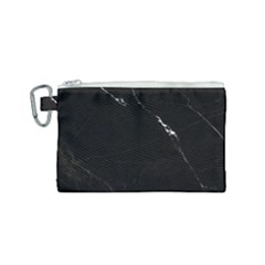 Black Marble Tiles Rock Stone Statues Canvas Cosmetic Bag (small) by Simbadda