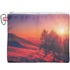 Italy Sunrise Sky Clouds Beautiful Canvas Cosmetic Bag (xxxl)
