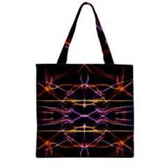 Wallpaper Abstract Art Light Zipper Grocery Tote Bag