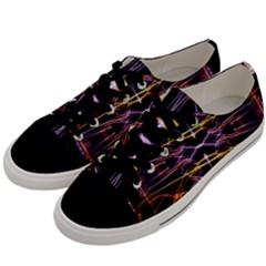 Wallpaper Abstract Art Light Men s Low Top Canvas Sneakers by Simbadda