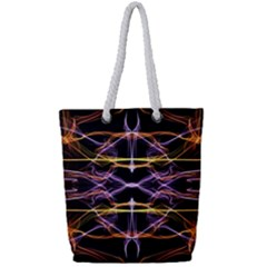 Wallpaper Abstract Art Light Full Print Rope Handle Tote (small)