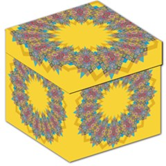 Star Quilt Pattern Squares Storage Stool 12