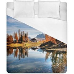 Dolomites Mountains Italy Alpine Duvet Cover (california King Size) by Simbadda