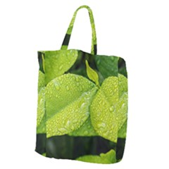 Leaf Green Foliage Green Leaves Giant Grocery Zipper Tote
