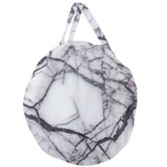 Marble Tiles Rock Stone Statues Giant Round Zipper Tote