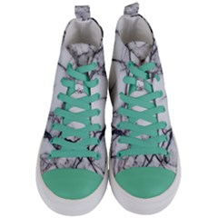 Marble Tiles Rock Stone Statues Women s Mid Top Canvas Sneakers
