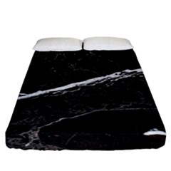 Marble Tiles Rock Stone Statues Fitted Sheet (california King Size)