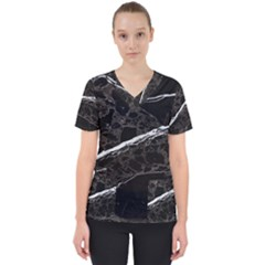 Marble Tiles Rock Stone Statues Scrub Top
