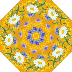 Flowers Daisy Floral Yellow Blue Folding Umbrellas