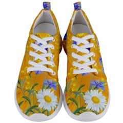 Flowers Daisy Floral Yellow Blue Men s Lightweight Sports Shoes