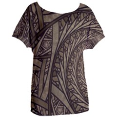 Abstract Pattern Graphics Women s Oversized Tee by Simbadda
