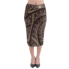 Abstract Pattern Graphics Midi Pencil Skirt