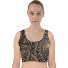 Abstract Pattern Graphics Velvet Racer Back Crop Top