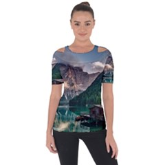 Italy Mountains Pragser Wildsee Short Sleeve Top