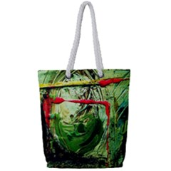 Continental Breakfast 6 Full Print Rope Handle Tote (small) by bestdesignintheworld